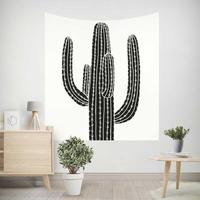 Tropical Plant Cactus Tapestry White Horse Unicorn Girl Pink Flamingo Decoration Wall Hanging Scarf Beach Towel