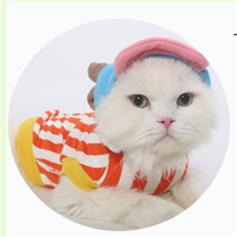 Funny Costume For Cat Lion Costume Dog Cat Clothing For Domestic Cat Sailor Suit Clothes Yorkies Cat Costume DDM1975