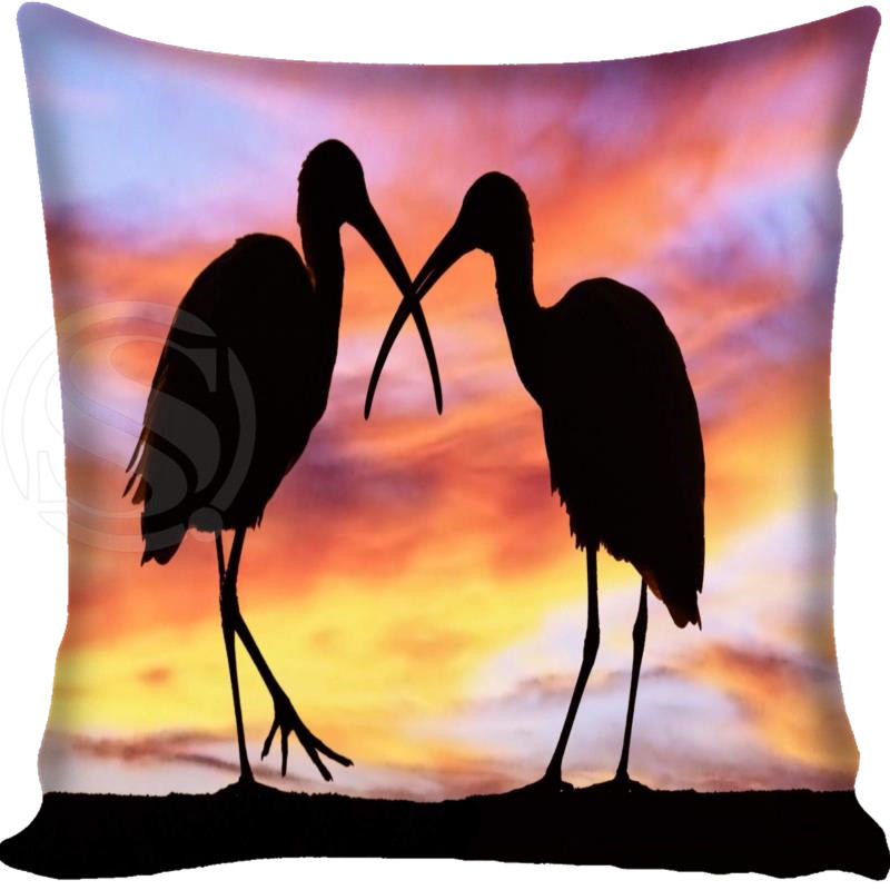New Arrival Hot Sale Ibis Bird Style Throw Pillowcase Square Zippered Pillow Cover Custom Gift 40x40cm Drop Shipping