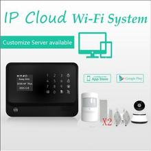 433mhz  WiFi GSM GPRS alarm system work with HD 720P security wifi IP camera for smart home alarm system support contact ID