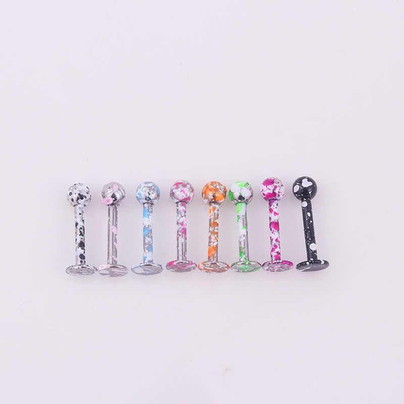 8pcs/set Surgical Steel Labret Monroe Lip Ring Piercing Jewelry Cartilage Tragus Ear Studs Screw Percing Nose Ring Bijoux