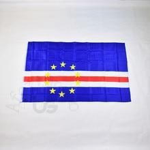 Cabo verde 90*150cm bandeira 3x5 pé pendurado bandeira nacional para atender, desfile, festa. pendurado, decoração
