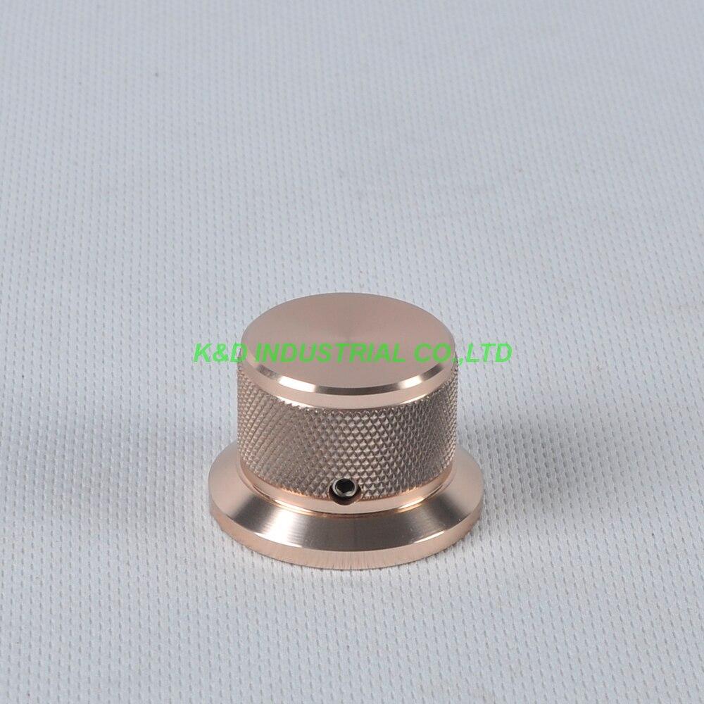 1pc 38x30x25mm de alumínio ouro vintage controle reticulado botão para guitarra amplifer áudio