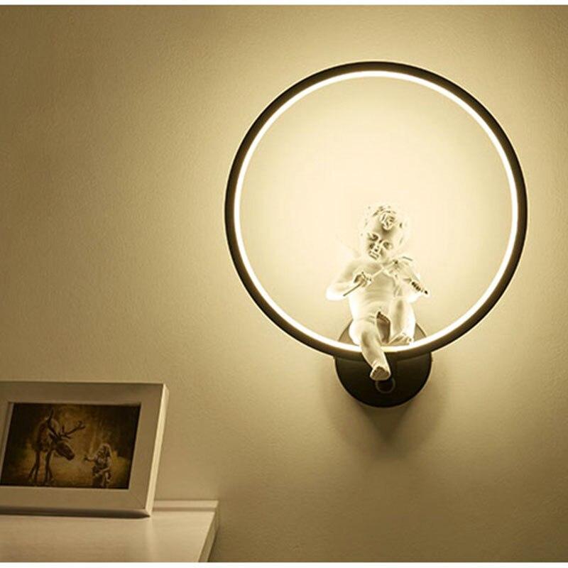 [DBF] Modern Art Angel Wall Lamps LED Lamps Nordic Creative Living Room Bedroom Wall Lamp AC 220V LED Lustre Light Wall Lighting