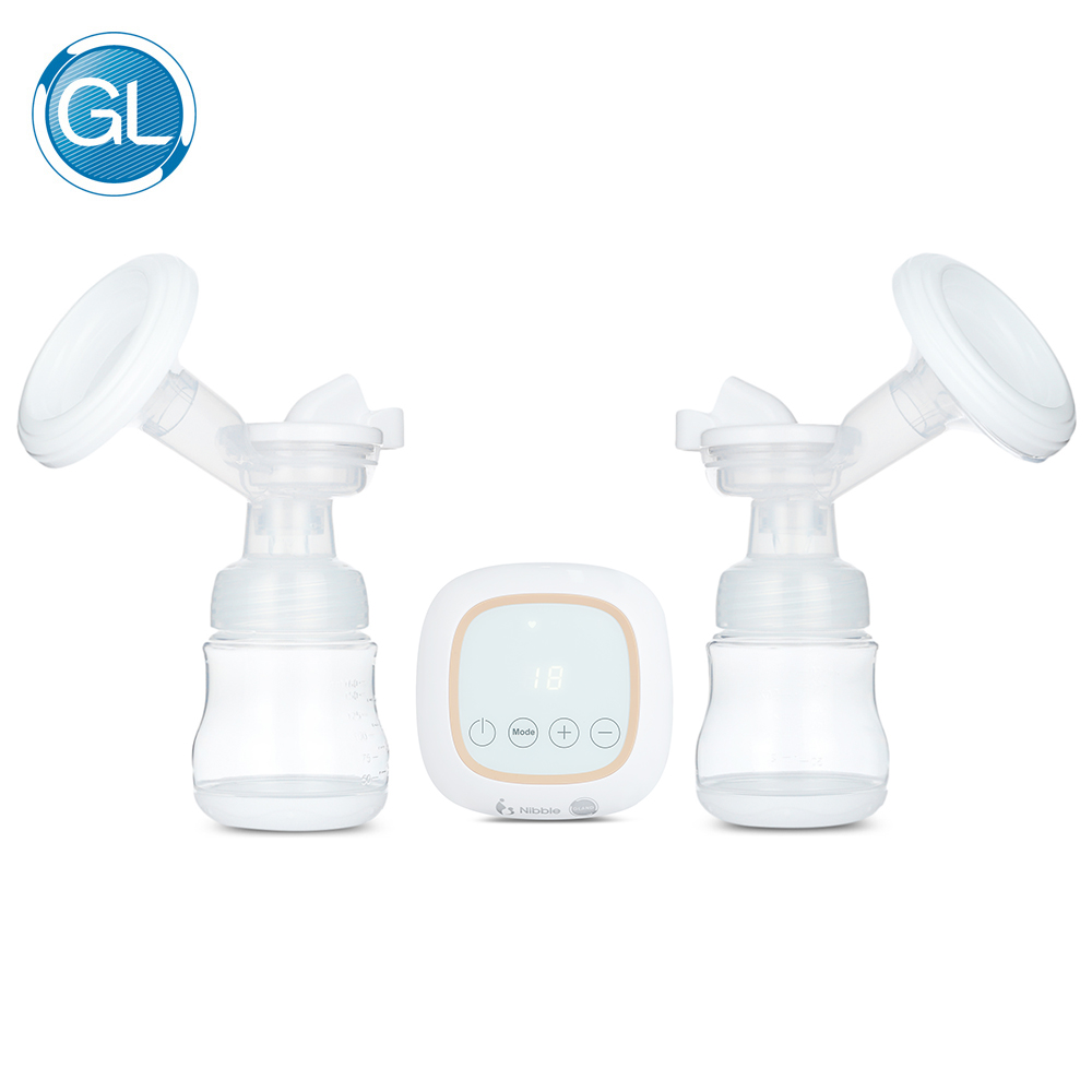GL Electirc Breast Pump Double Bottle USB Charge Portable Quite BPA free Large Suction Powder Baby Breast Feeding Pumps GLP-19