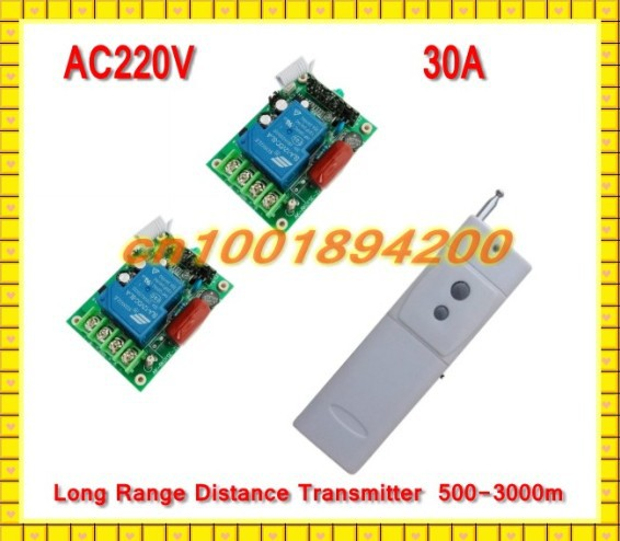 AC220V 30A Water Pump Control Remote Control Switch System Far Distance Long Range Transmitter  use in Farm or hill  2Receiver farm level adoption of water system innovations in semi arid areas