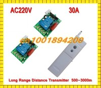 AC220V 30A Water Pump Control Remote Control Switch System Far Distance Long Range Transmitter Use In