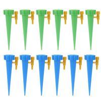12 pçs/set sistema de irrigação por gotejamento automático rega spike para plantas flor interior casa waterers garrafa|Kits de rega| |  -