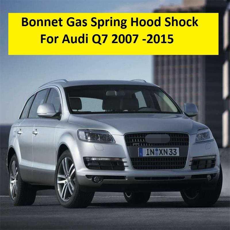 2 adet Için Audi Q7 2007 2008 2009 2010 2011 2012 2013 2014 2015 Araba-styling Bonnet Dikme Gaz bahar Hood Şok Hediye Aracı