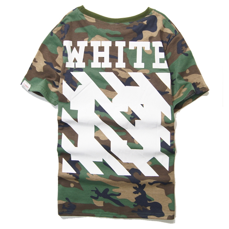 Brand T shirt Off White Virgil Abloh Camouflage Swag Men Camo t ...