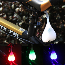 Cycling Balls Tail Silicone Light Creative Bike Waterproof Night Essential LED Red Warning Lights Bicycle Seat Back Egg Lamp