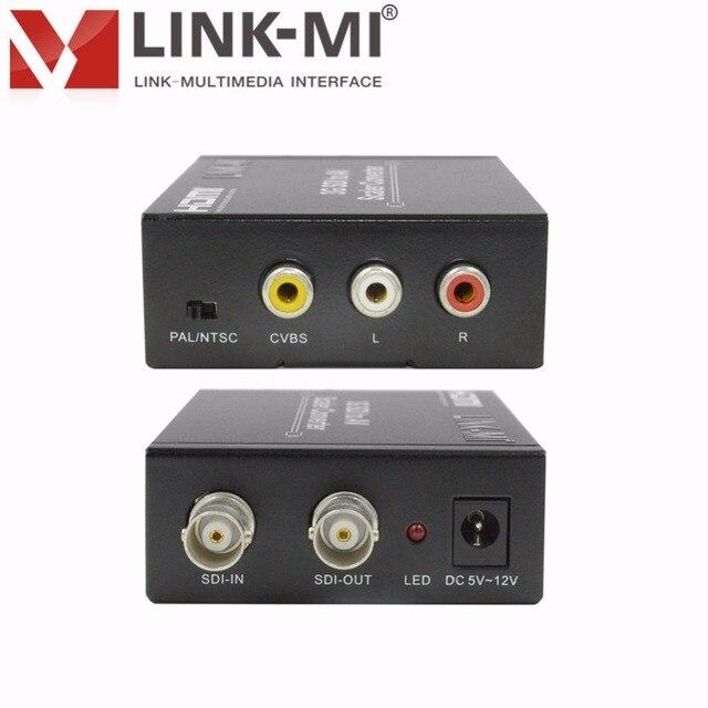 LINK-MI LM-SAV1 HD/SD/3G-SDI vers CVBS convertisseur cvbs transmission vidéo et sonore répartiteur SDI 2 voies pour laffichage de la caméra moniteur