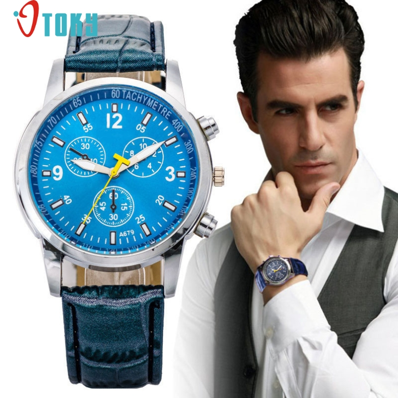 Excellent Quality OTOKY Quartz Watches Luxury Elegant Men Quartz Wrist Gift Dress Mens Leather Strap Watches Relojes Feminino