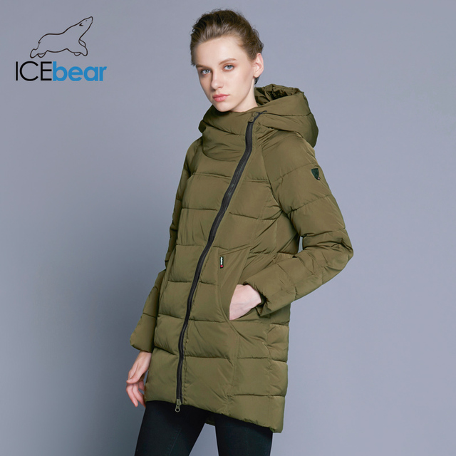IECbear 2018 New Winter Collection Women's Parka Hooded Warm Jacket New Fashion Brand High Quality Thick Outwear Coat 16G607