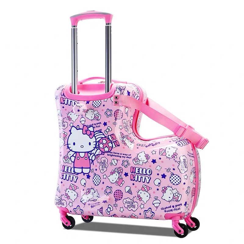Новинка 2019 года, Детские милые чемоданы на колесиках с принтом «hello kitty», милые чемоданы на колесиках для мальчиков и девочек, дорожная сумка, школьный чемодан для студентов