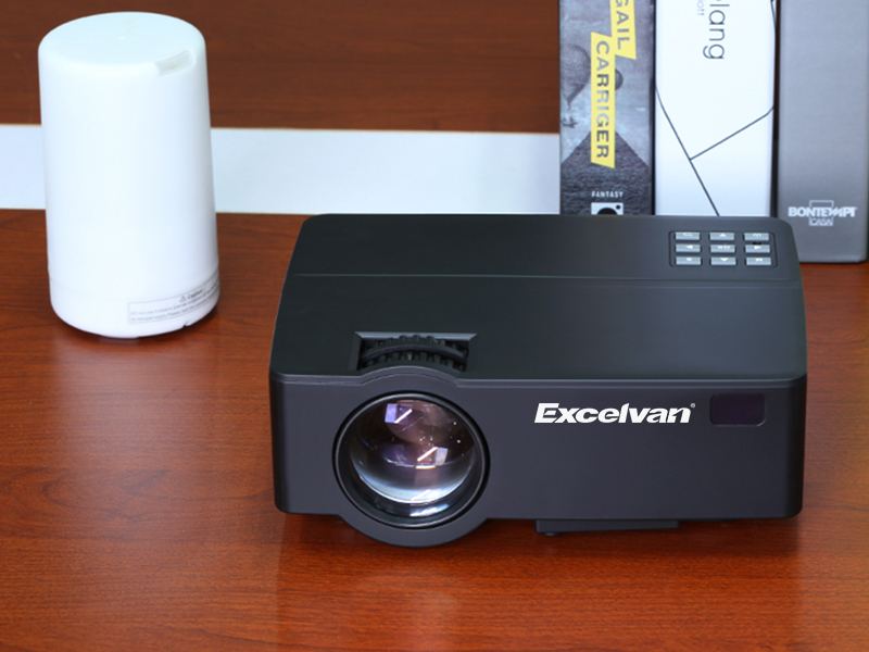 Excelvan E08 E09 LCD Projector Home Cinema 1080P (Optional Android OS ,  Bluetooth WIFI, Support AC3 ) LED 3D Beamer