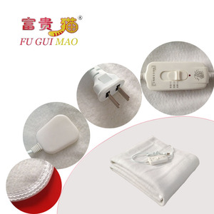 Image 5 - FUGUIMAO غطاء كهربائي أبيض نقي مانتا Electrica 150x70 سنتيمتر بطانية التدفئة الكهربائية للسرير 220 فولت بطانية صوف كهربية الجسم أدفأ