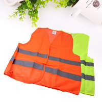 Vehemo 2 Pockets Neon Orange Safety Vest with Reflective Strips For Airport Traffic
