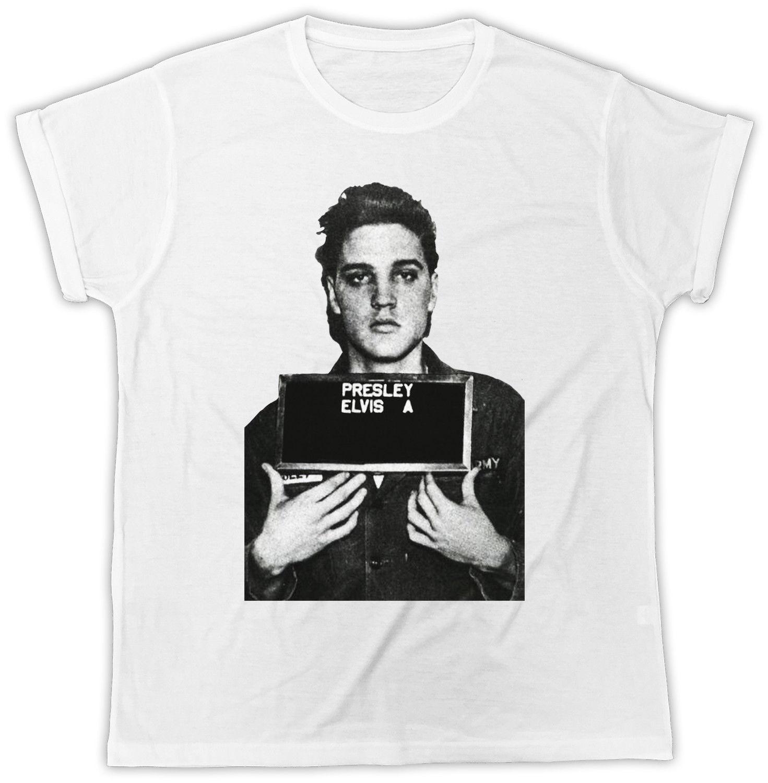 Elvis Presley T Shirt Mug Shot Birthday Present Ideal Gift Unisex Tee