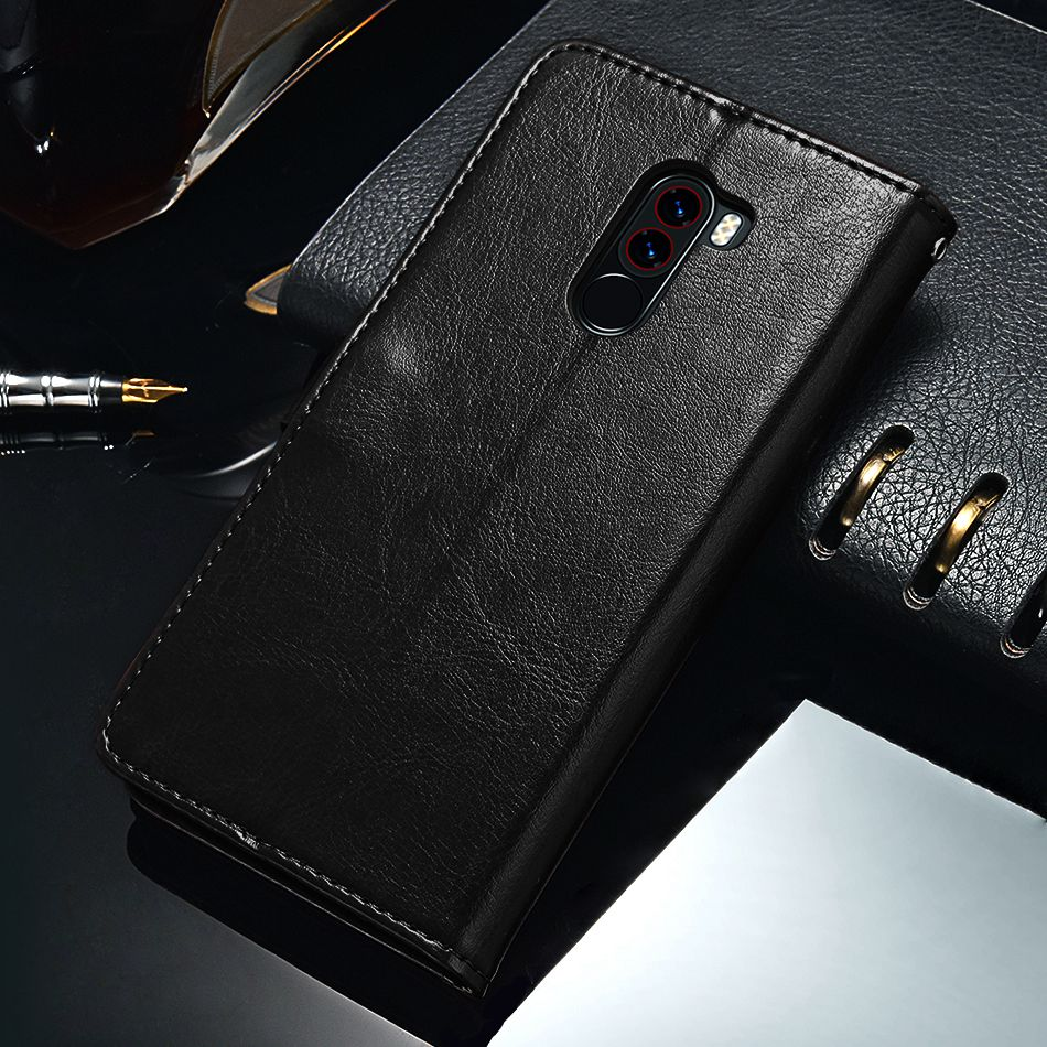 TOMKAS Pocophone F1 Case POCO F1 Global Flip Wallet With Stand Vintage Leather Silicone Back Cover Case For Xiaomi Pocophone F1 (12)