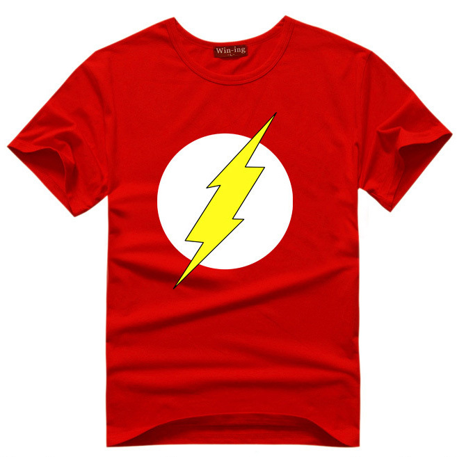 The flash super hero t shirt men boy cosplay costume t Boys superhero t shirts