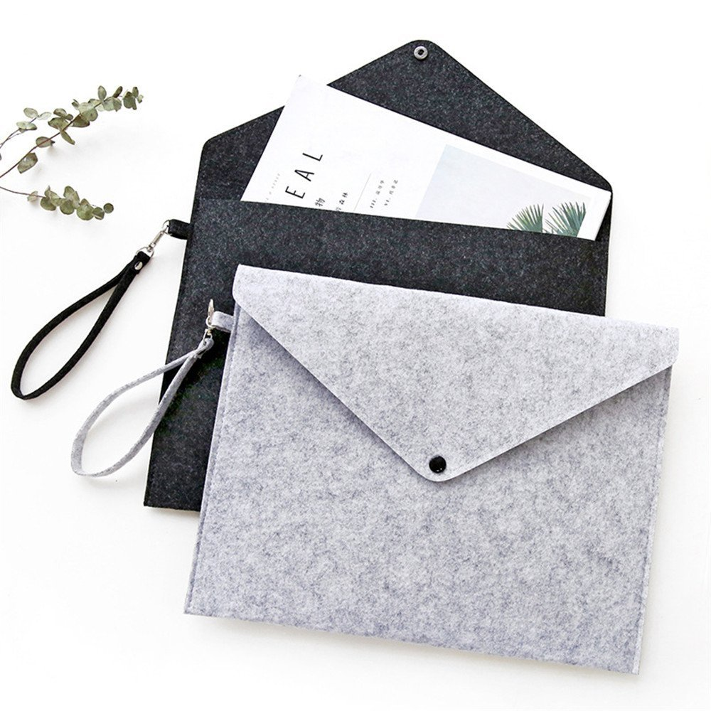 A4 Chemical Felt File Folder Durable Briefcase Document Bag Paper File Folders Stationery Store School Office bag fabric file folder document bag 1pc sell portfolio stationery document folder 32 24cm office file folders kawaii school supplier