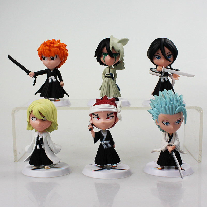 6Pcs/lot 7cm Anime Figure Bleach Ichigo Kurosaki Orihime Inoue PVC Action Figure Model Toys
