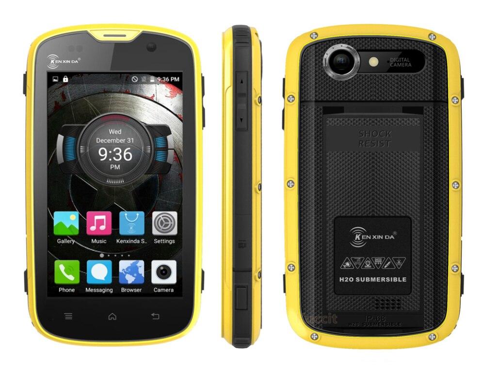 Shockproof IP68 rugged Android Waterproof Phone Kenxinda W5 cellular phone original Quad Core font b Smartphone
