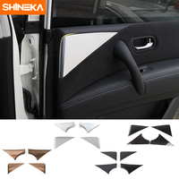 SHINEKA Car Styling ABS Car Door Internal Triangle Sequins Decoration Cover Trim Sticker Fit for Nissan Patrol Y62 2017+