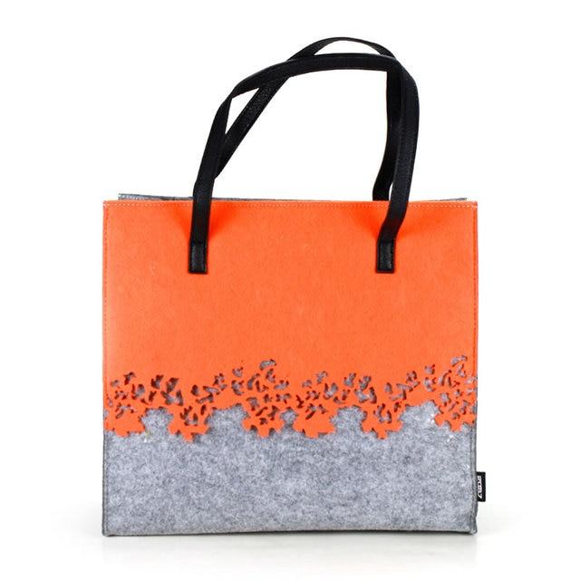 2087 Brand Bag For Women Felt Handbag Bags Lady Large Shoulder Ping Totes Hollow