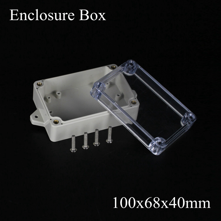 100*68*40mm IP66 ABS Waterproof electronic enclosure project box Distribution control switch junction outlet case Clear cover стоимость