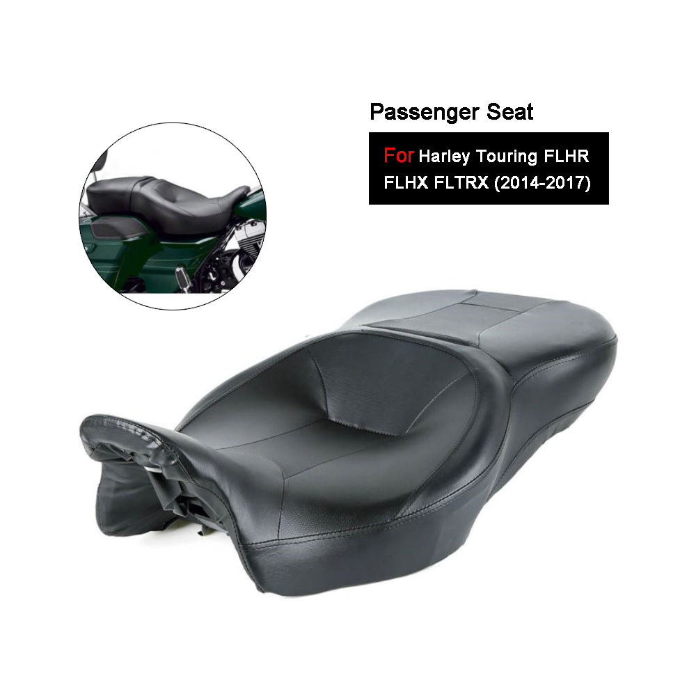 New black Rider and Passenger Seat For Harley Touring Electra Street Glide Road King Ultra Classic FLHT FLHR FLHX FLTRX 14-17 saddlebag bracket guard w support bar for harley touring electra road glide classic flht flhr flhtc fltru fltrx fltruse 97 08