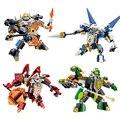 4 Styles Nexus Knights 1Pcs Figures Assembly Building Blocks Clay Macy Lance Aaron Toy Figures Kids Gift Hero Paladin Bricks