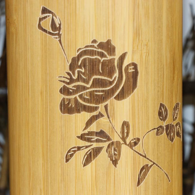 400ml bamboe reizen thermosflessen roestvrij staal waterfles - Keuken, eetkamer en bar - Foto 4
