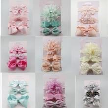 Flower Headband Hair-Accessories-Set Photography-Props Bebe Baby Elastic Infants Bowknot