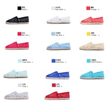 Summer Women's Casual Shoes Ladies Flats Sexy Lace Loafers Slip on Espadrilles 11 Colors