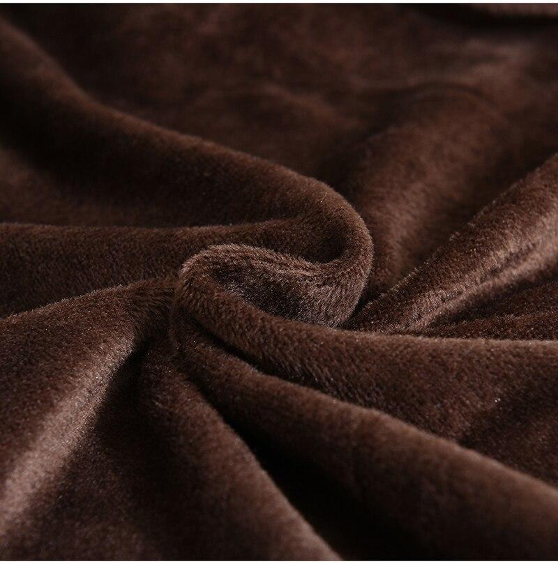 Housse de canapé marron en velours