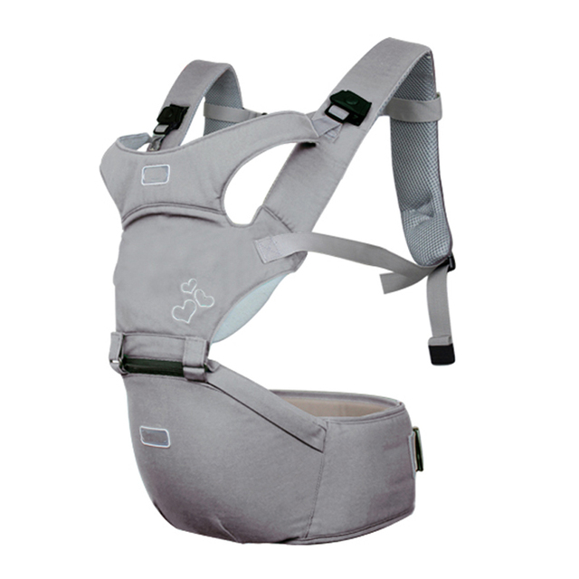 U-shaped Design Neckline Ergonomic Baby Carriers – Silver