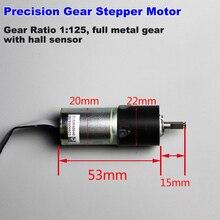 Mini 20mm DC5v 2-Phase 4-Wire Precision Planetary Stepper Stepping Motor Micro 22mm gear box 8-wire Servo Hall Sensor