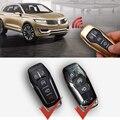 5 כפתורי מקרה מרחוק מפתח לרכב סגסוגת אלומיניום מגן מפתח אביזרי רכב מחזיק עור Shell עבור MKC MKX לינקולן MKZ-במחזיק מפתחות לרכב מתוך רכבים ואופנועים באתר