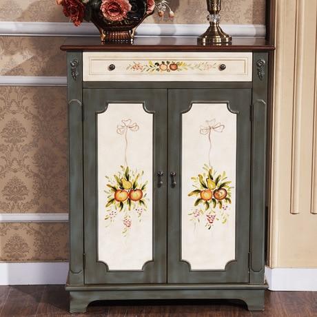 Shoe Cabinets Rack Home Furniture Wood Foyer Cabinet Mediterranean Garden Chaussure Rangement Schoenen Rek Shoes Organizers