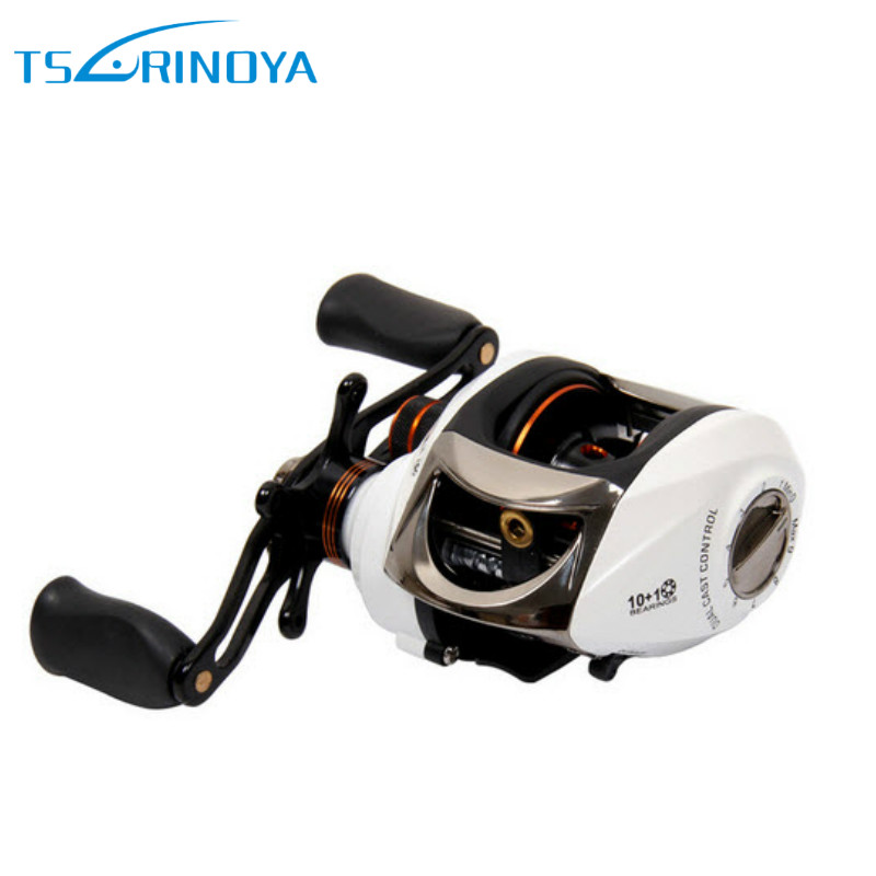 TSURINOYA Speedy Baitcasting Reel 10+1BB 6.3:1 Right Left Hand Casting Fishing Reel Dual Cast Control Drop Wheel Coil