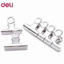 Deli 9524 38mm Clip 6pcs/pack Silver Metal Grip Clips Bulldog Clips Money Letter Document Organizer School Office DropShipping
