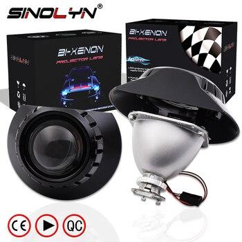 Sinolyn H7 reflektor projektora do BMW E46 Coupe Tuning 325i 328i 330Ci Wagon/Sedan halogenowy obiektyw Mini 2.5 bi-ksenonowe akcesoria