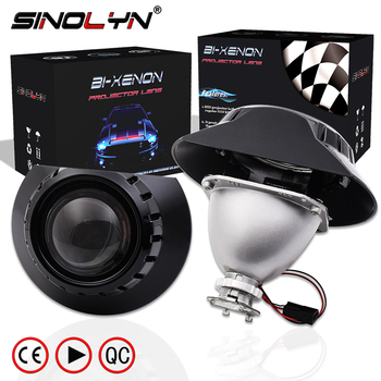 Sinolyn h7 projetor farol para bmw e46 coupe tuning 325i 328i 330ci wagon/sedan halogênio lente mini 2.5 bi-xenon acessórios