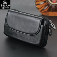 Real Genuine Leather Horizontal Belt Holster Case For IPhone 7 Plus 6 6S Plus 5 5S