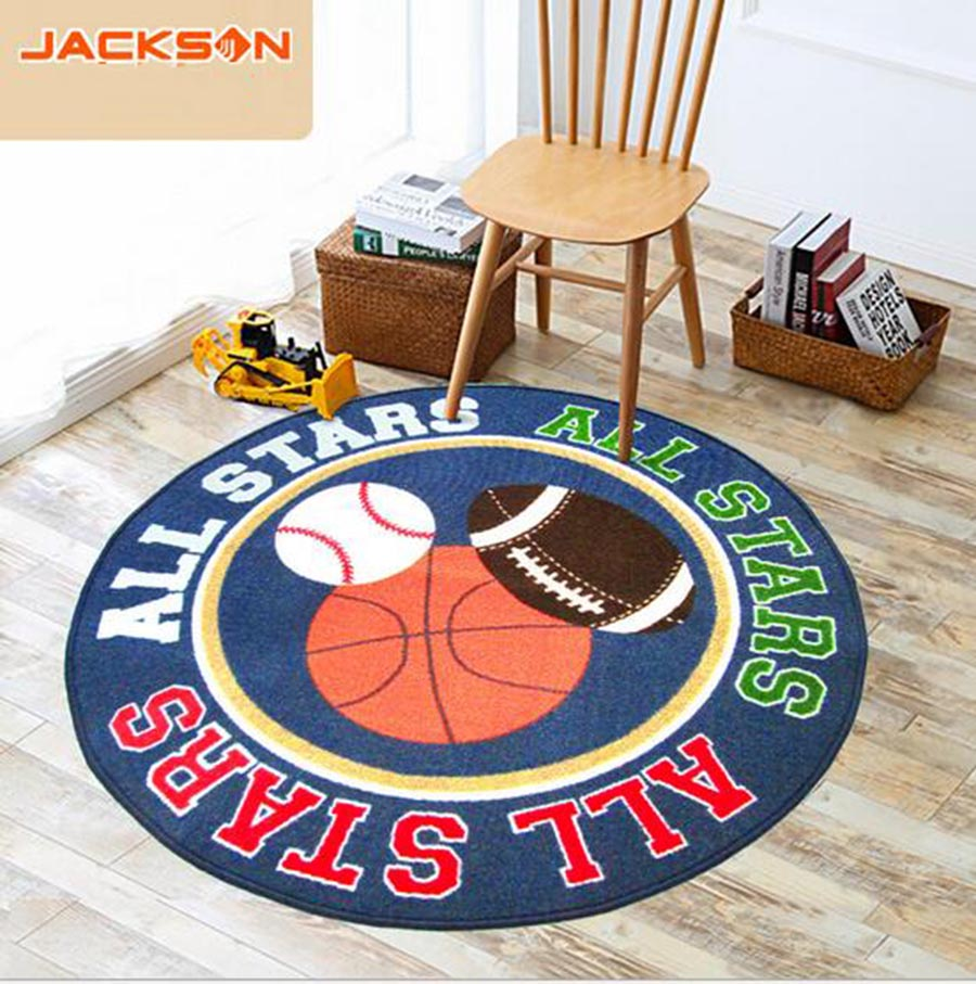 100CM Diameter 3D Cartoon Carpets For Living Room Soft Children Play Mat Rugs And Floor