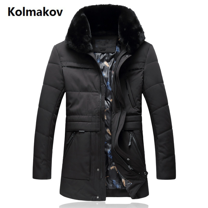GUIXIANG 2017 Winter Mens fashion High quality thicken Down jacket men Hooded winter jackets mens down coats size L-7XL