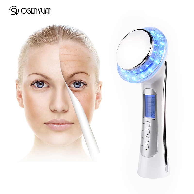 цены Hot Ultrasonic 3 Color Photo LED Light Therapy Beauty Device Whitening Lifting Vibration Skin Firming Acne Care Facial Massager