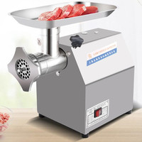 110V 220V Commercial Electric Meat Grinder Stainless Steel Enema Machine Quick Grinding Meat Mincer 150Kg 200Kg 250Kg 500Kg/H